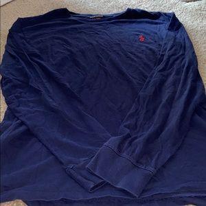 Long sleeved men's polo shirt